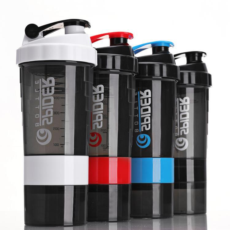 500ml Plastic Shaker Bottle With Storage