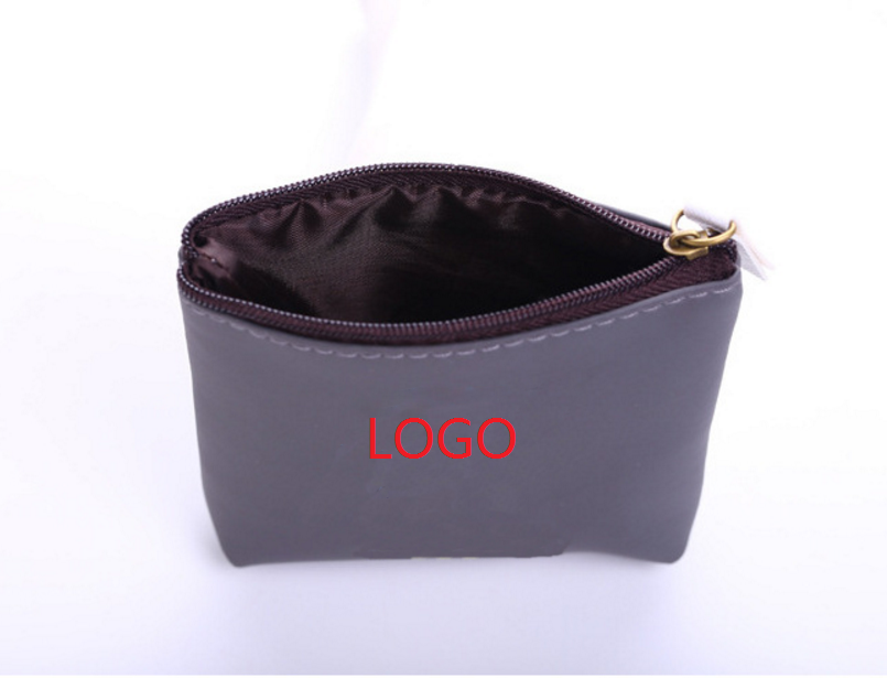 Imprinted PU Leather Coin Purse