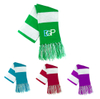 Imprinted Two Tone Knit Scarf with Fringe