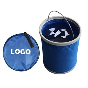 Imprinted Foldable Fish Water Bucket