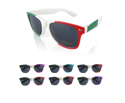 Custom Fashion Multi Color Neon Fluorescent Sunglasses