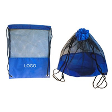 "Promotional 210D Polyester Mesh Drawstring Bag 14 "" x 18 """