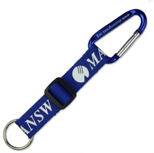 Personalized Carabiner Key Ring with Adjustable Strap