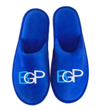 Custom Logo Hotel Disposable Velvet Slippers
