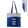 Two-tone Non-woven Bag with Front Pocket