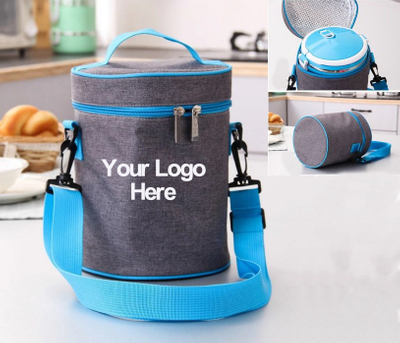 Promotional Cylinder Insulated Lunch Cooler Bag