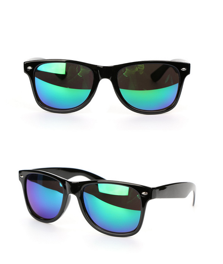 Print Color Mirrored Lenses Sporty Sunglasses