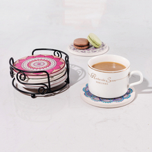 New Type Round Absorbent Ceramic Coffee Mug Tea Cup Coaster Wholesale