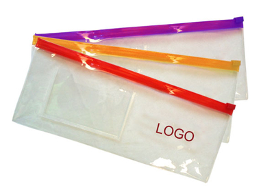 Clear PVC Zipped Pencil Cases