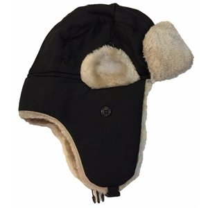 Imprinted Fashion Kids Fur Earflap Bomber Hat
