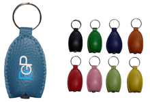 Imprinted PU Leather LED Keychain