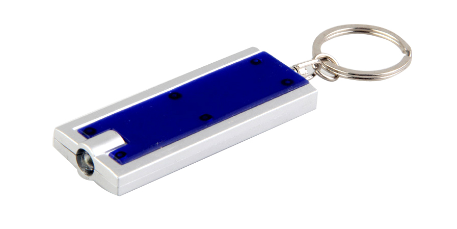 LED Flashlight Keychain Key Holder