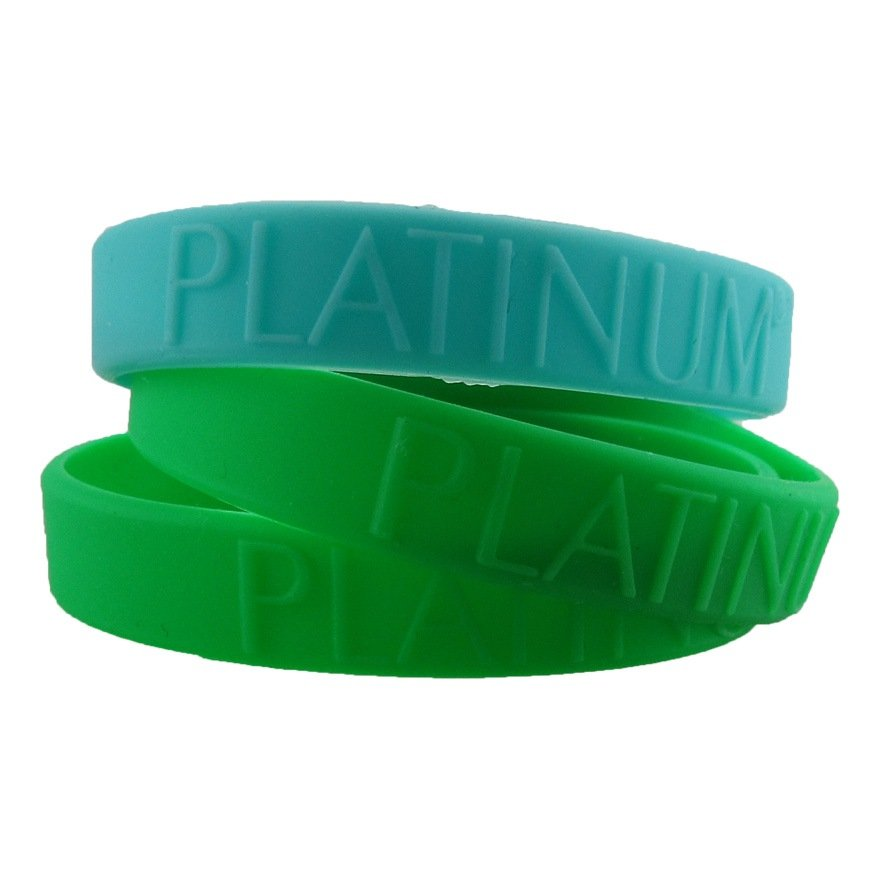Personalized Embossed Glow In Dark Silicone Bracelets