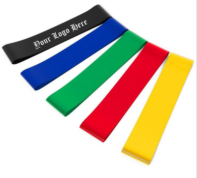 Custom Promotional Exercise Resistance Yoga Bands with Logo