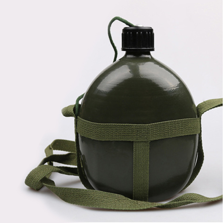 Portable Aluminium Military Army 1000ML Water Bottle