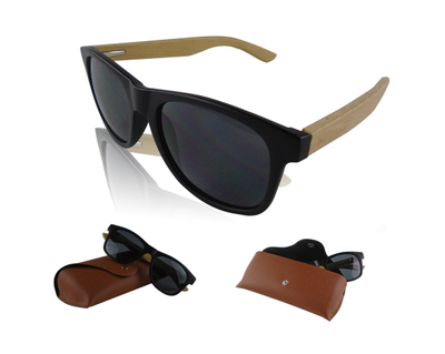 Custom Promotional Bamboo Sunglasses With Pouch Case