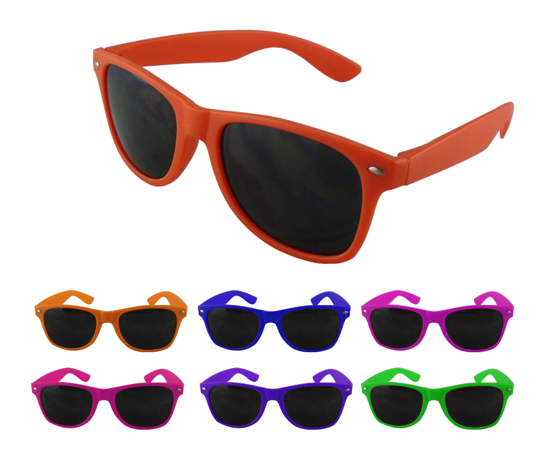 Custom Printed Adult Neon Sports Sunglasses