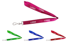 Custom Promotional Flat Plain Neck Lanyard With Swivel Hook