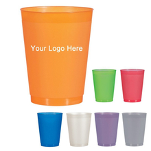 Custom Promotional 16 oz. Frosted Party Stadium Cups with Logo