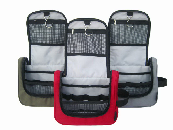 "Promotional Custom Travel Cosmetic Bag - 9.8 "" x 3.94 "" x 8.26 """